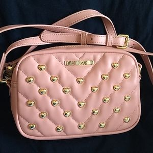 Love Moschino Quilted Heart Leather Crossbody Bag